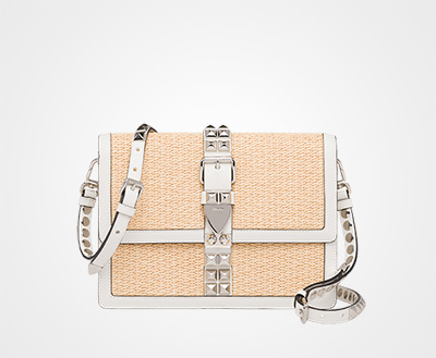 c39ec282c9f3 Prada Elektra straw shoulder bag TAN WHITE Prada