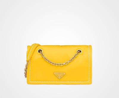 703e795e40d6 Nylon shoulder bag YELLOW Prada