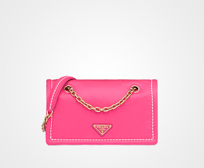 089f0d0f6e4c57 Nylon shoulder bag FUCHSIA Prada