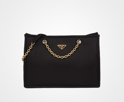 e058bd7965c9 Nylon tote bag BLACK Prada