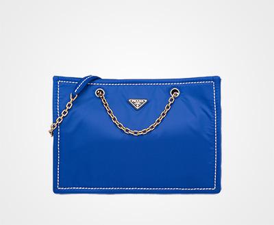6fa6204fb9f3 Nylon tote bag INDIGO BLUE Prada