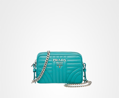 b02369918445 Prada Diagramme leather cross-body bag
