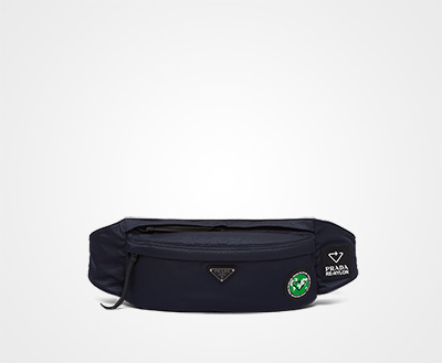 1e4b2874d Prada Re-Nylon belt bag BLUE+GREEN Prada