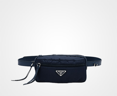 98bc0d61 Fabric and leather belt bag