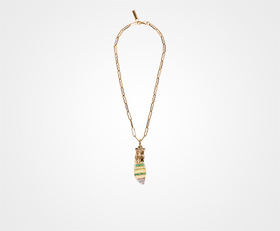 Prada Prada Talisman Rabbit Necklace blkK6
