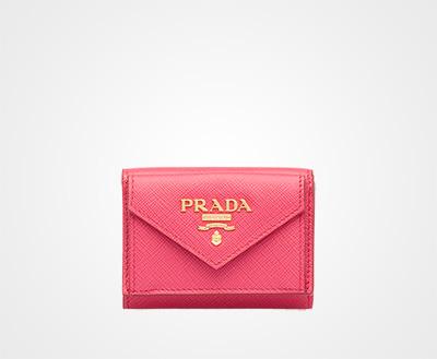 015a153d97c0 「サフィアーノ」レザー 財布 ピンク Prada