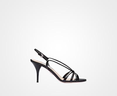 2f59e38c1b3 Kid leather sandals BLACK Prada