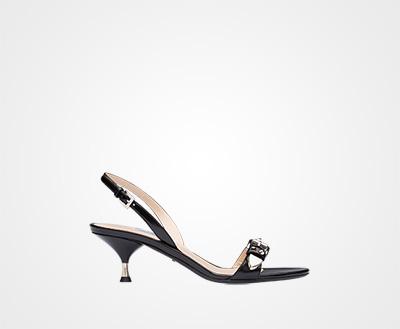 Studded leather sandals BLACK Prada 9c63d1650cb