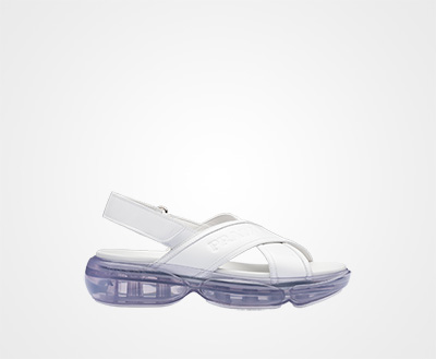 684cd0be9 Cloudbust brushed leather sandals WHITE Prada