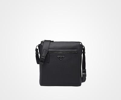 Saffiano leather shoulder bag BLACK P Prada 0dce2a6379
