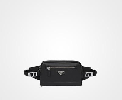 4ad0377385e8 Saffiano leather belt bag BLACK Prada