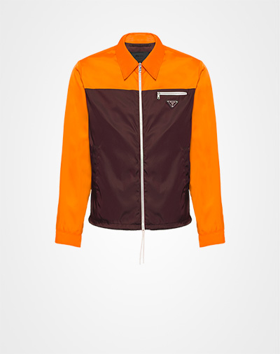 884de3d6d75e Two-tone nylon gabardine jacket GARNET ORANGE Prada