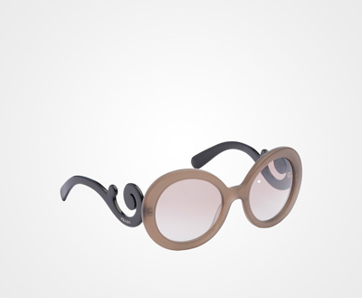 42b85988d20e Prada Minimal Baroque eyewear MIRRORED GRADIENT COFFEE TO CLAY GRAY LENSES  Prada