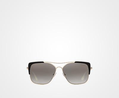 e89f5b6e04e Prada Eyewear Collection ANTHRACITE GRAY TO LAKE BLUE GRADIENT LENSES WITH  SILVER MIRROR FINISH Prada