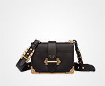 Prada Cahier leather bag BLACK Prada