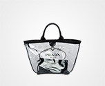 Fabric and Plexiglas handbag BLACK Prada