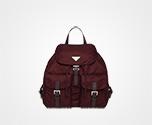 Fabric Backpack BURGUNDY Prada