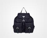 Fabric Backpack BLUE Prada