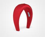 Nylon headband Fiery Red Prada
