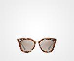 Prada Cinéma eyewear MIRRORED GRADIENT COFFEE TO CLAY GRAY LENSES Prada