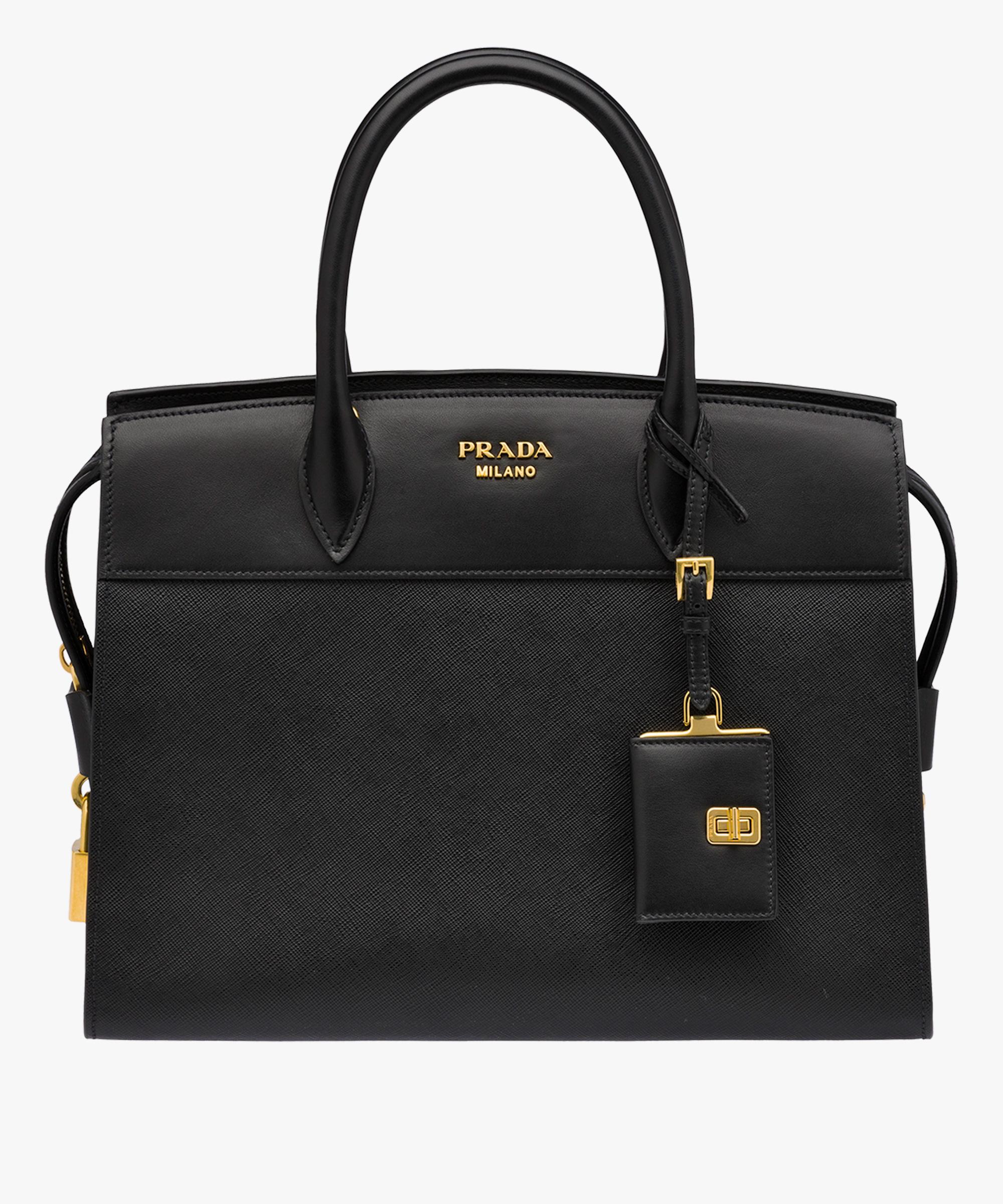 ae0d66f2d934 Esplanade leather bag Prada BLACK; Esplanade leather bag Prada BLACK ...