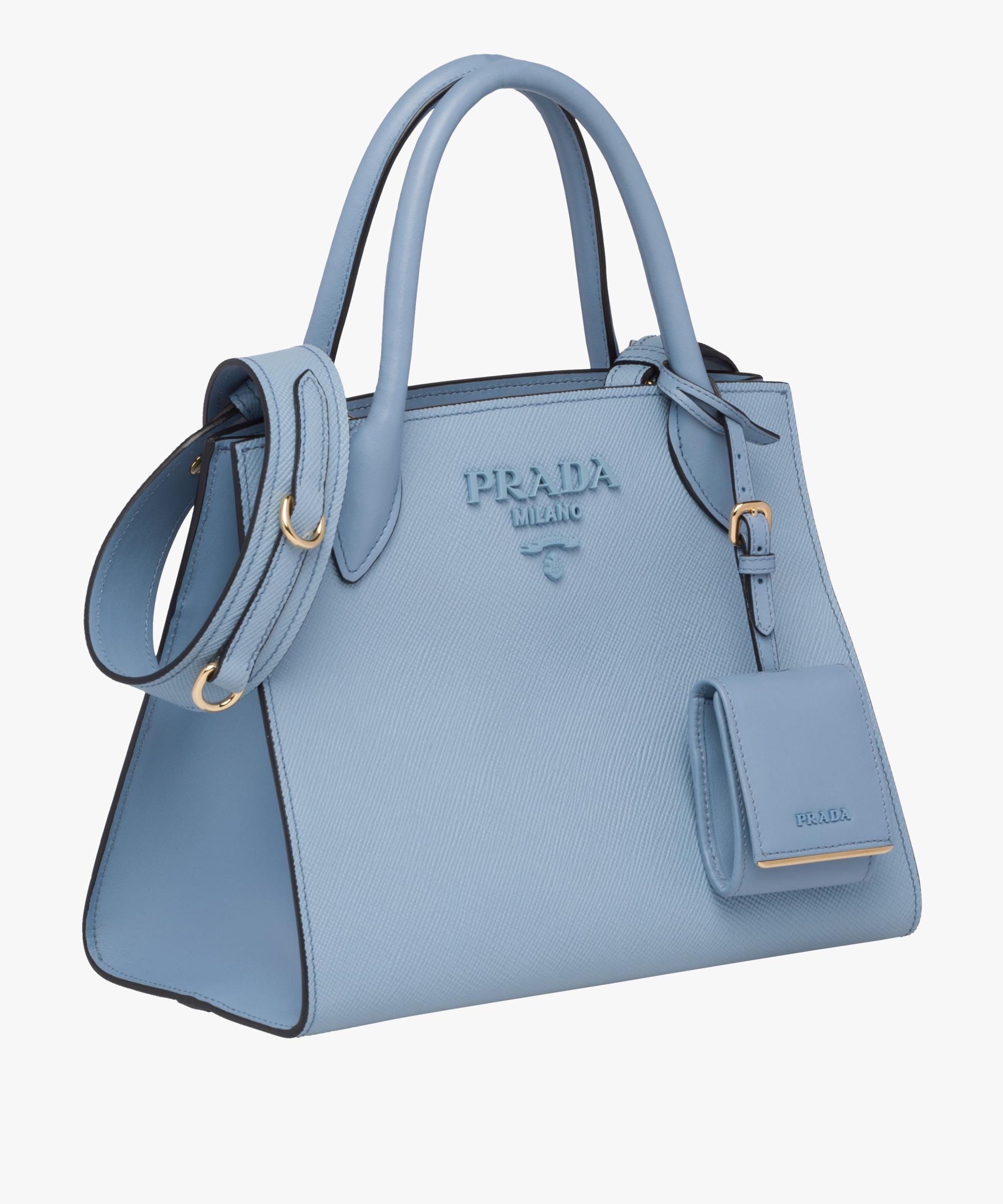 93c06f8a57bb ... Prada Monochrome Saffiano leather bag Prada ASTRAL BLUE ...