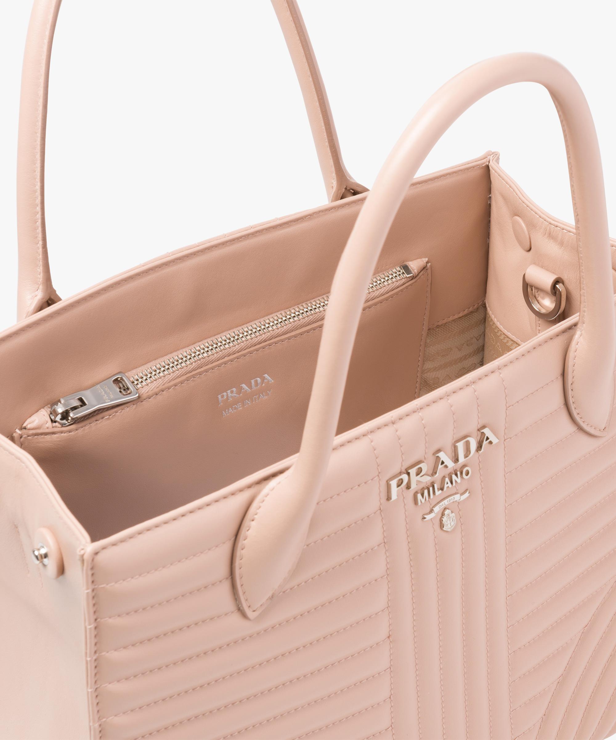 428c4b3f6978 Prada Diagramme leather handbag Prada POWDER PINK ...