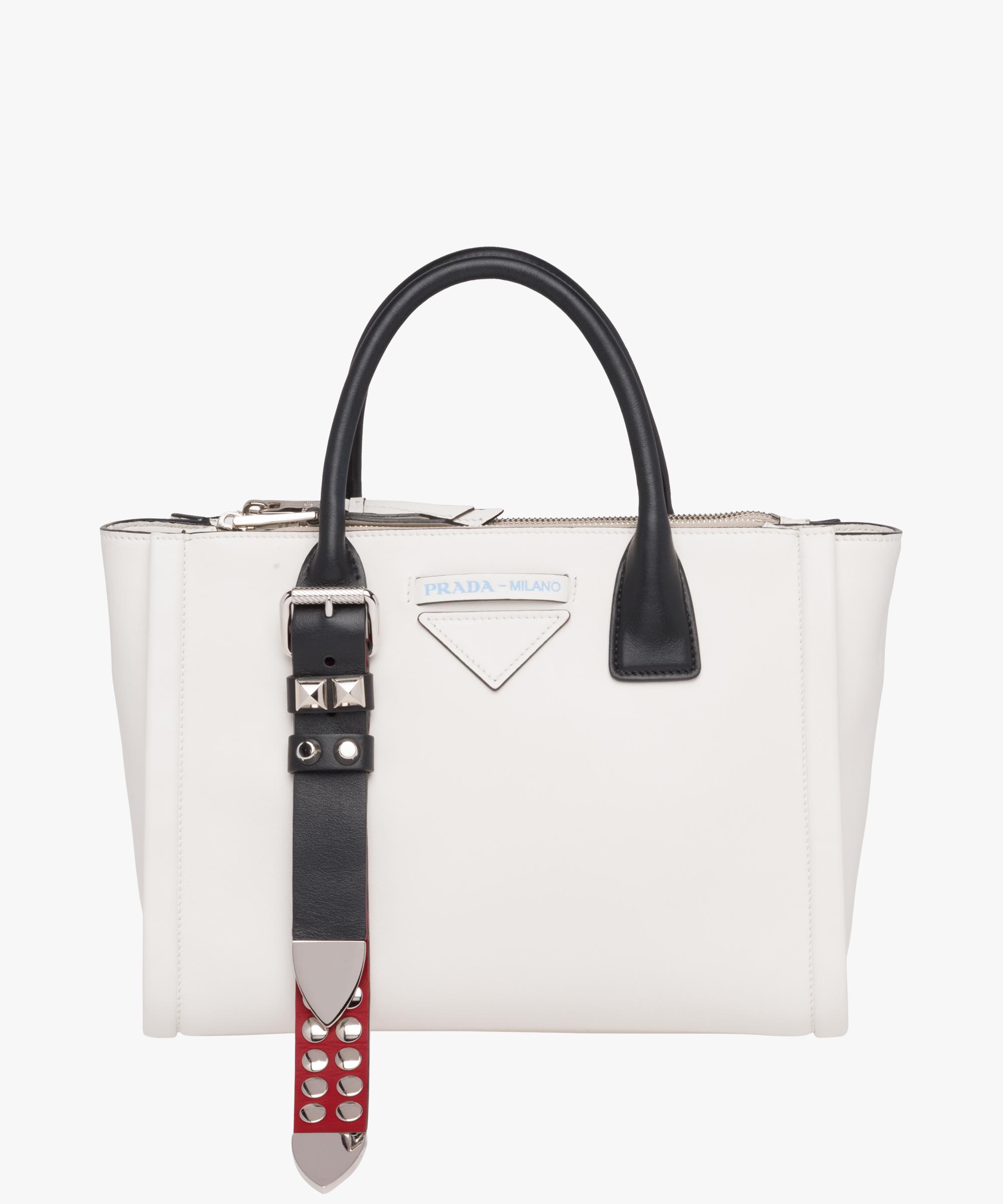 97eb6ea542a5a9 Prada Concept Leather Handbag 1BA175 Brown 2018 t