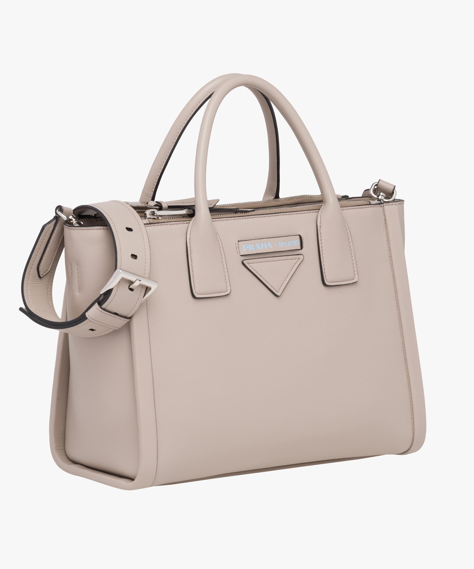 33749f676813eb Prada Concept calf leather bag Prada PUMICE STONE .