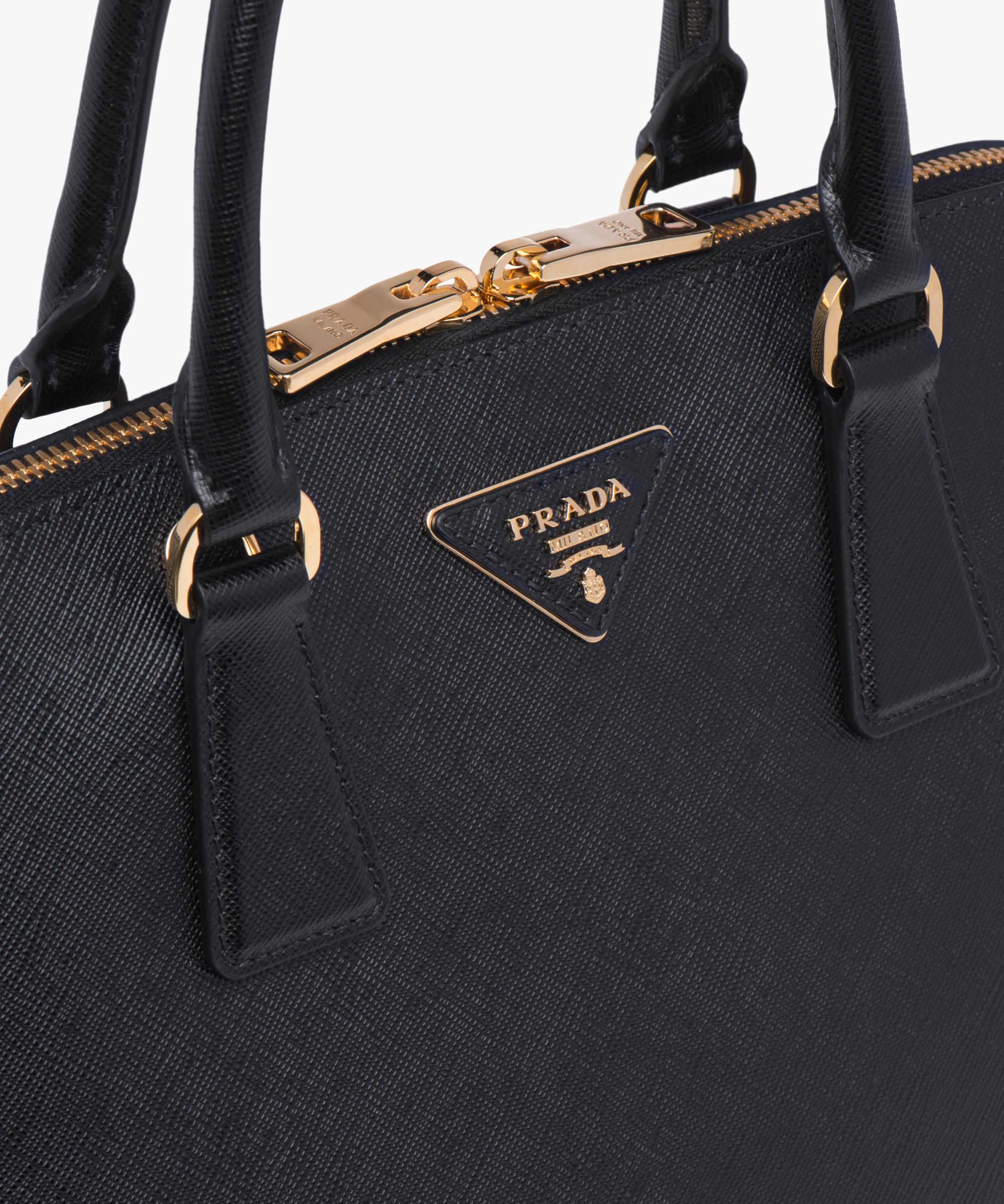 c87a4fa527a6 ... Prada Promenade Saffiano Leather Bag Prada BLACK ...