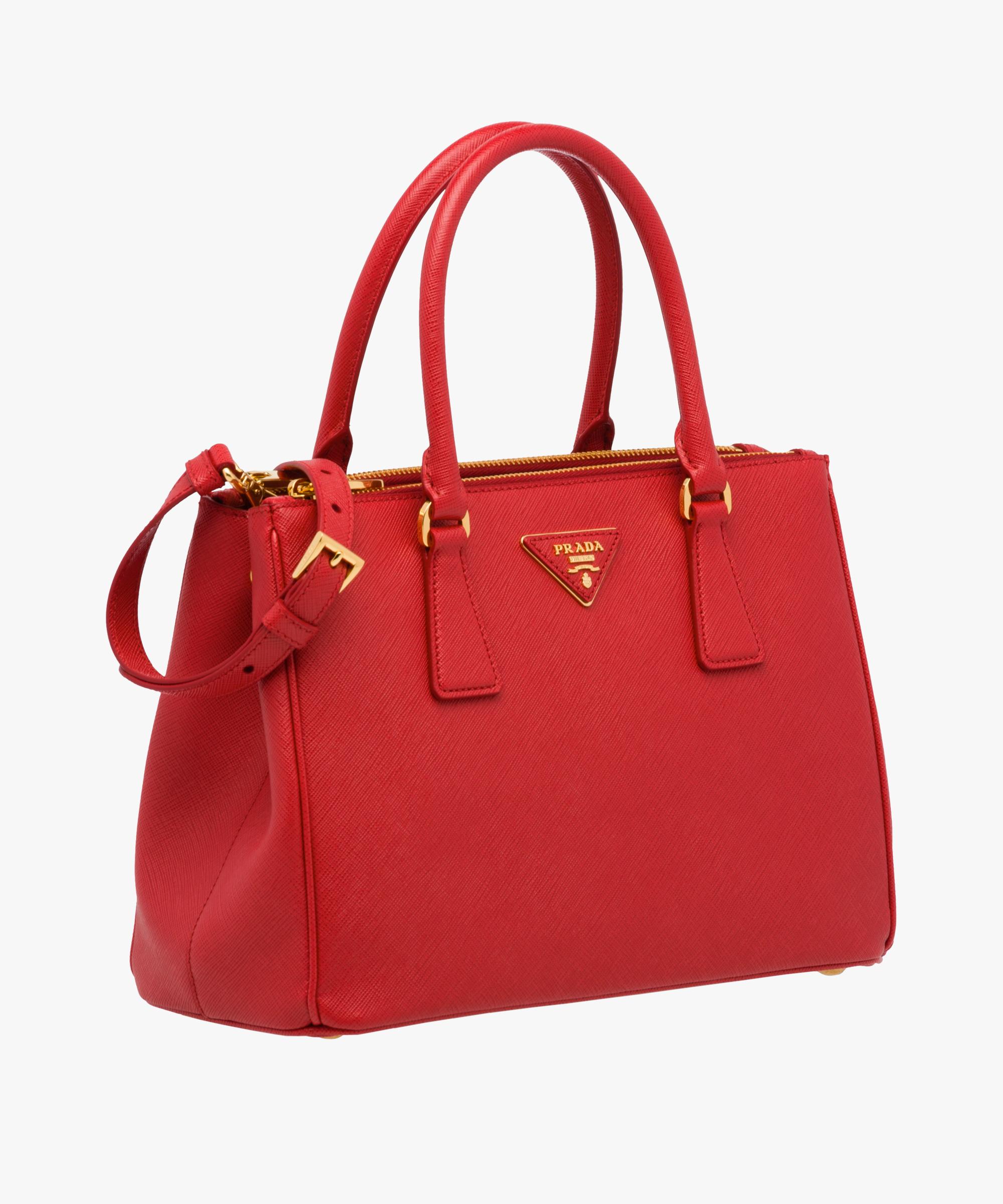 a5508814f9 ... Prada Galleria Small Saffiano Leather Bag Prada FIERY RED ...