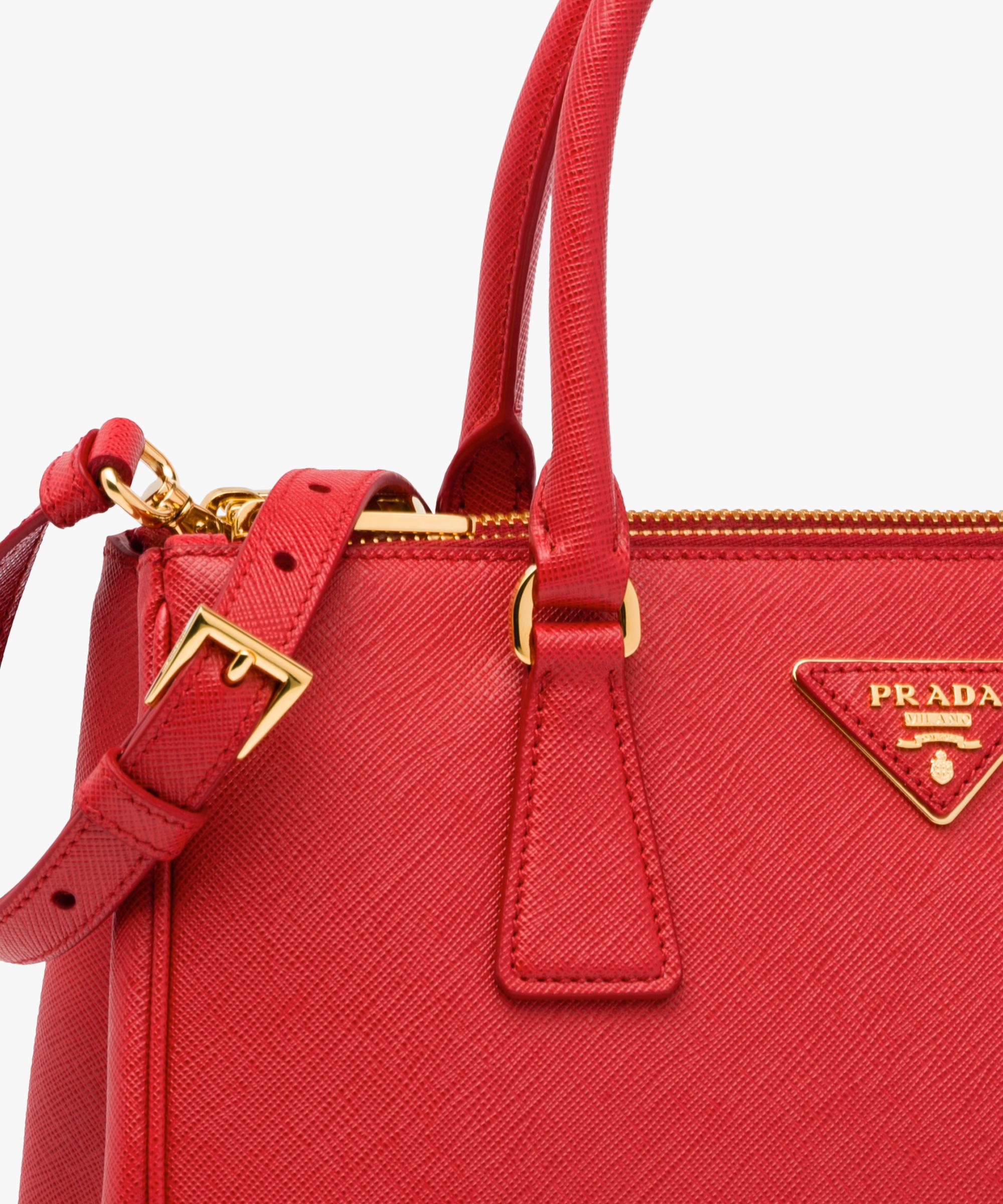 d72da8c531ec ... Prada Galleria Small Saffiano Leather Bag Prada FIERY RED ...