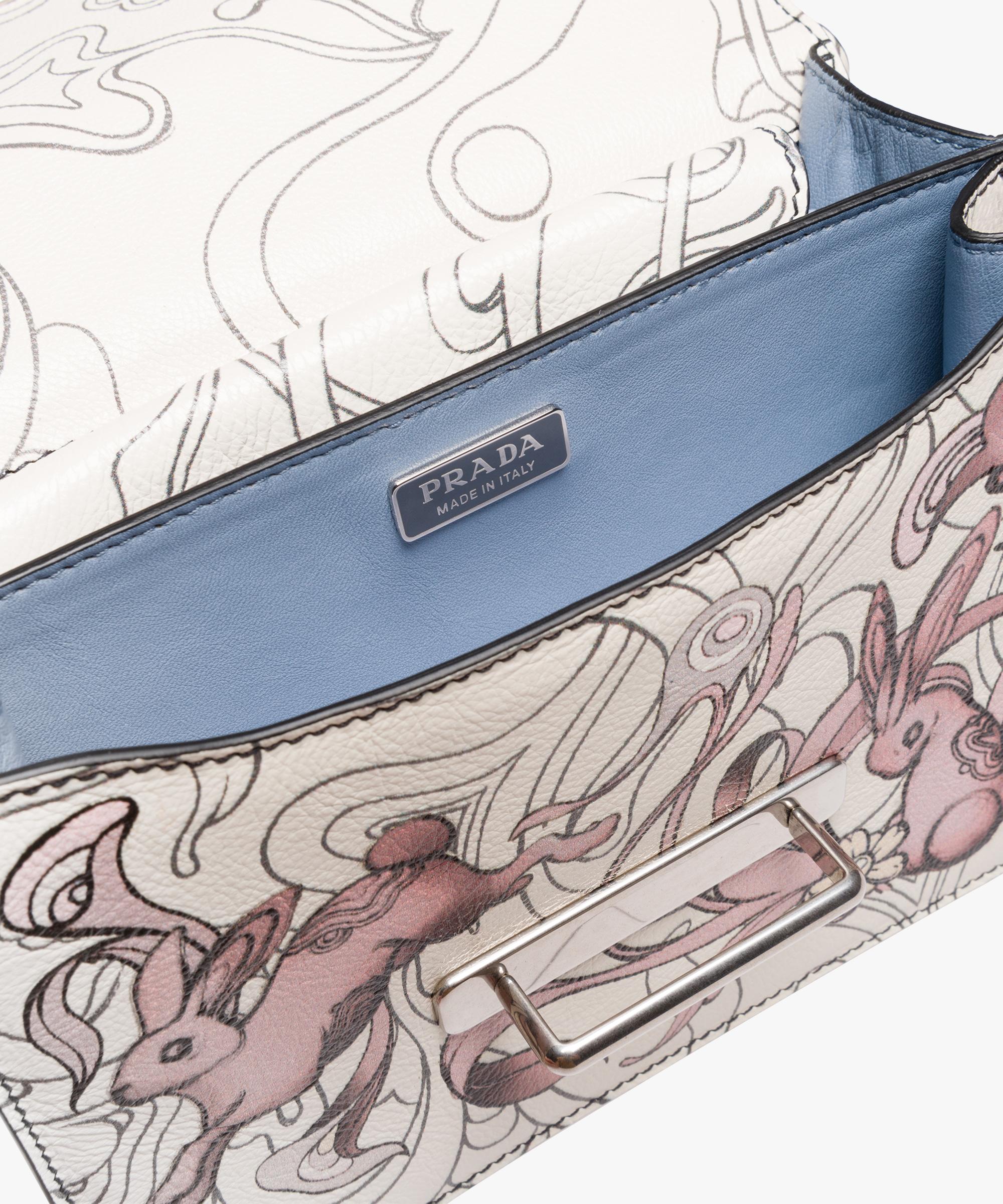 d9cae32d9fb Prada Cahier printed leather bag Prada OPALINE ...