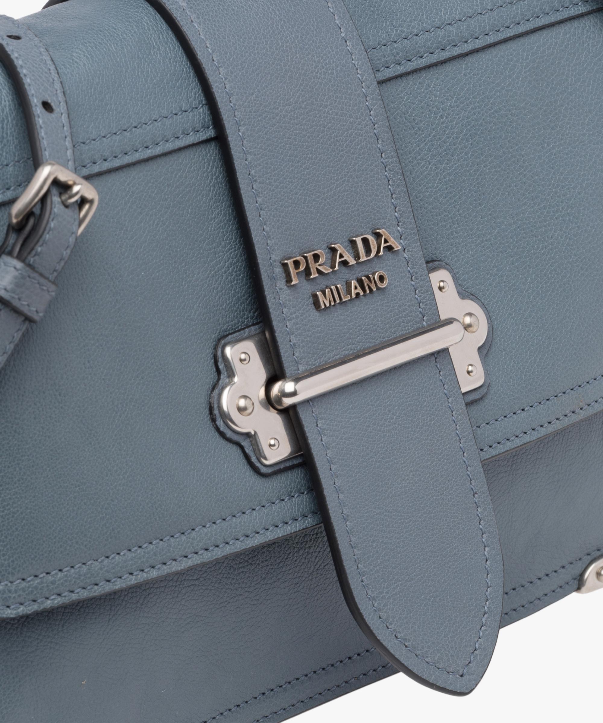 1f7512126d51 ... Prada Cahier leather shoulder bag Prada MARINE BLUE ASTRAL BLUE 1 ...