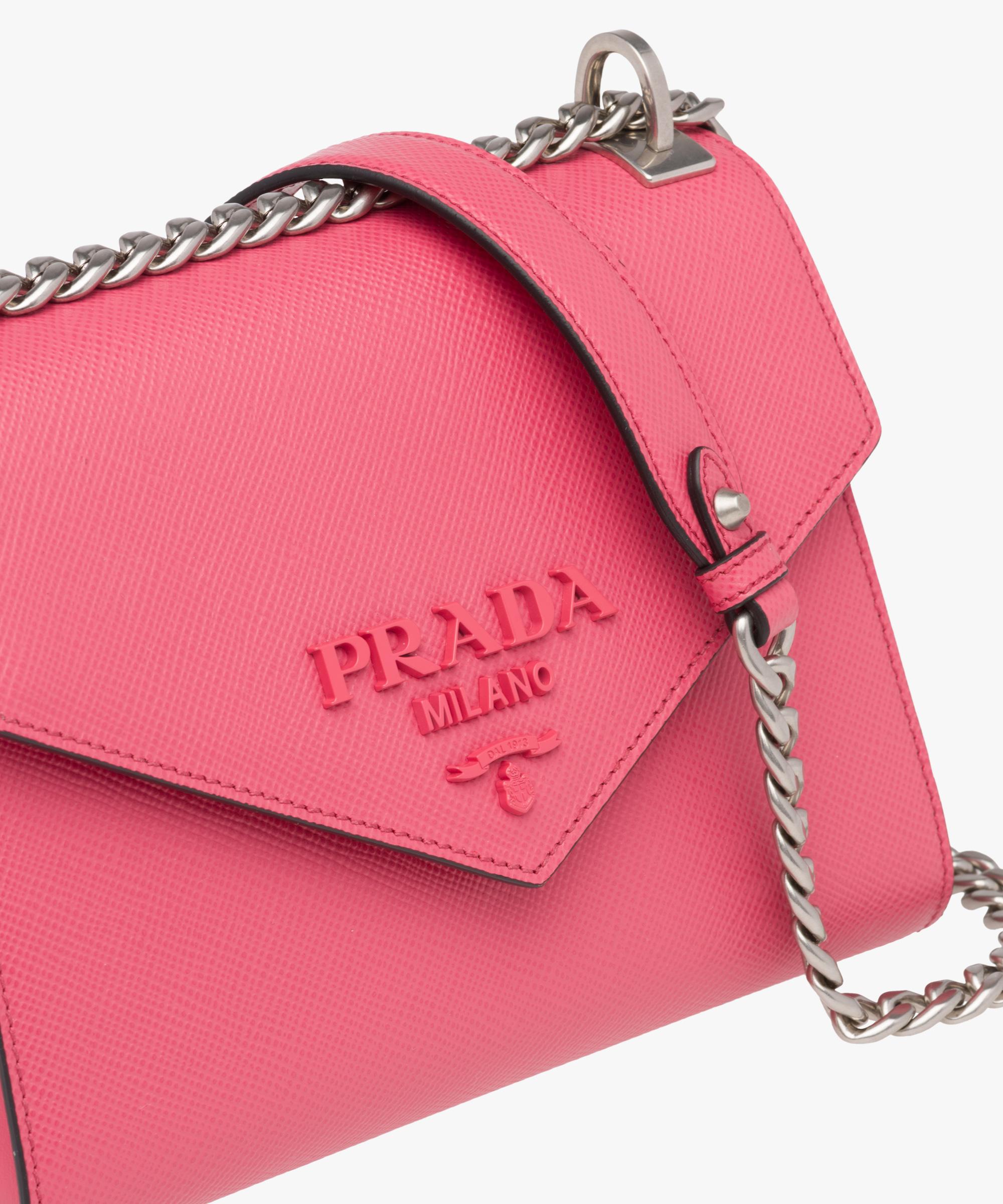 6a77bc2b3002 Prada Prada Monochrome Saffiano leather bag at £1400 | love the brands