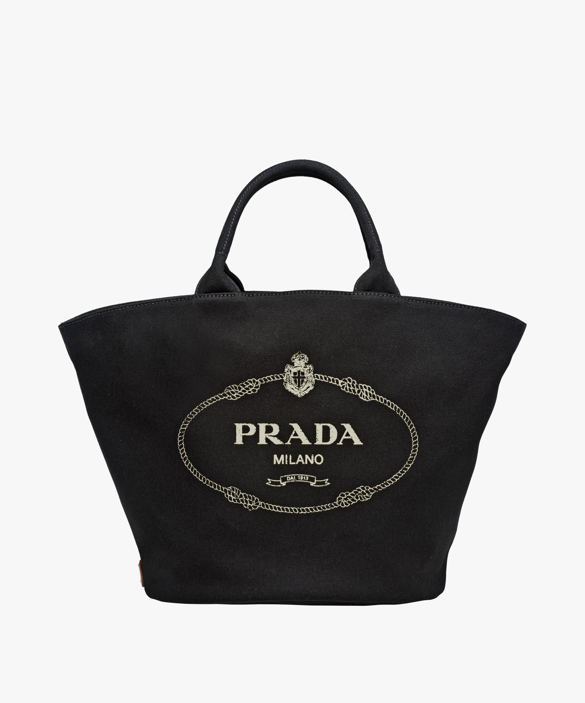 f52e5dffe544 Fabric handbag Prada BLACK  Fabric handbag Prada BLACK ...