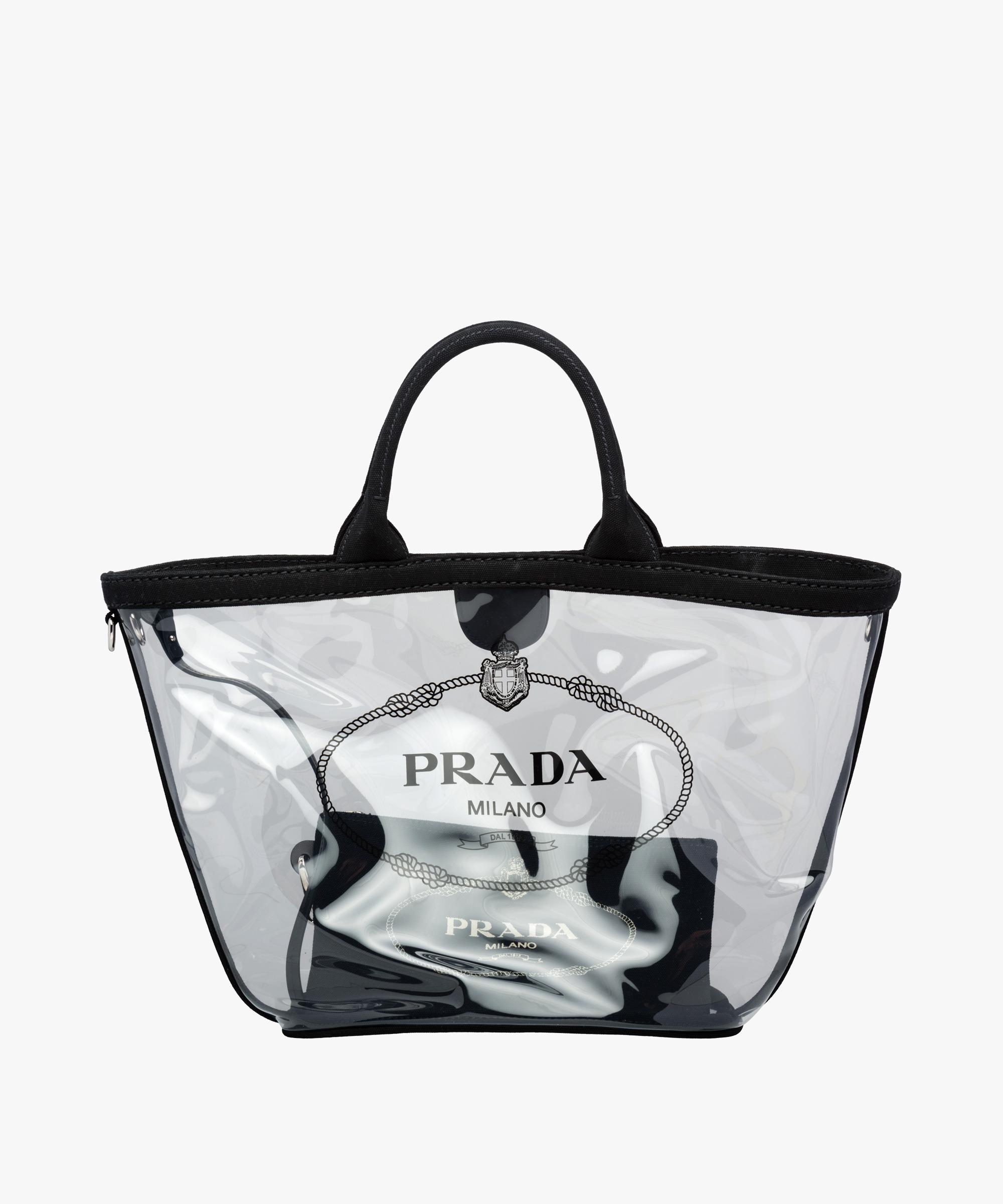 Fabric and Plexiglas handbag | Prada