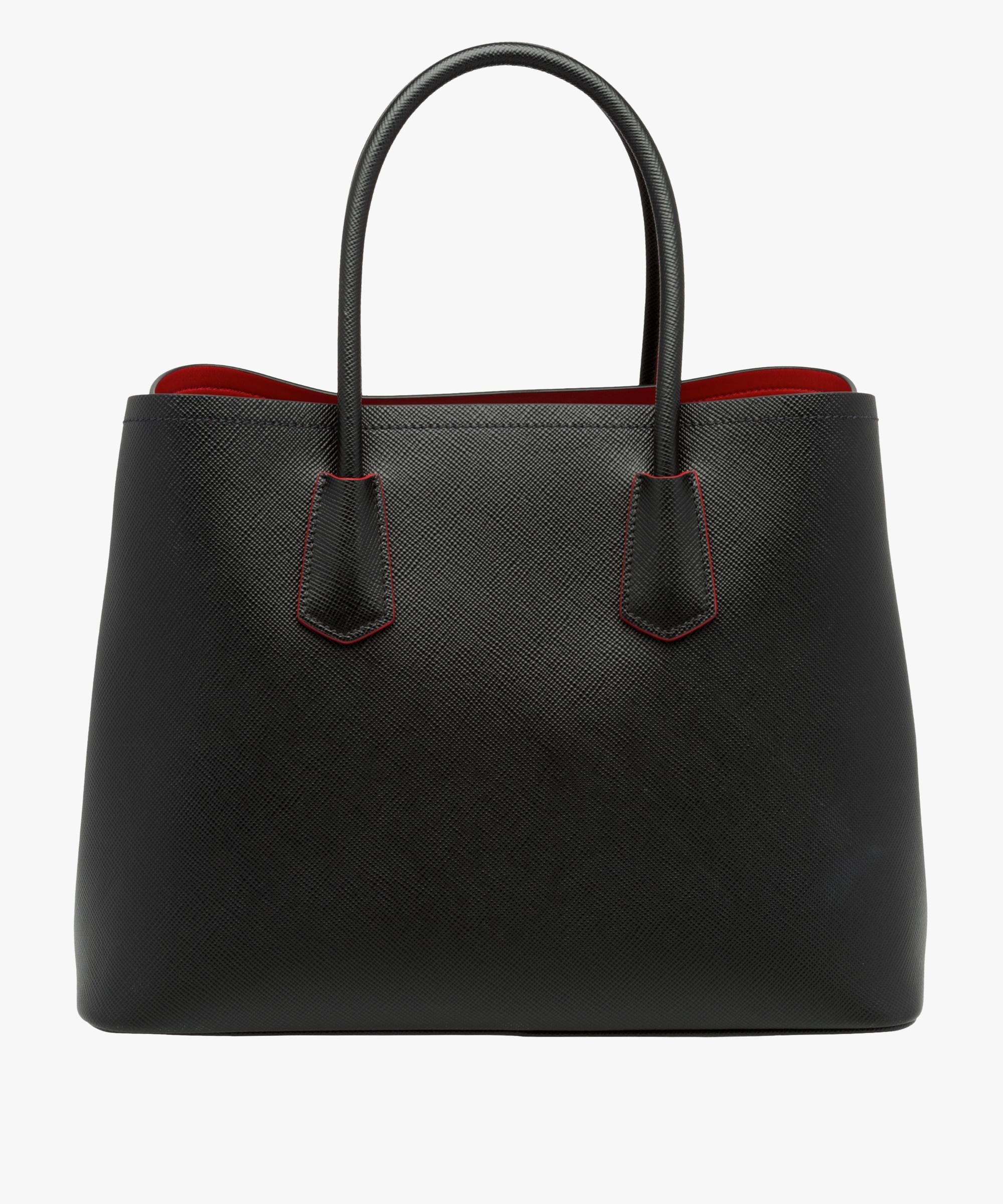 cc25a79e5874 ... Prada Double Bag Large Prada BLACK FIERY RED ...