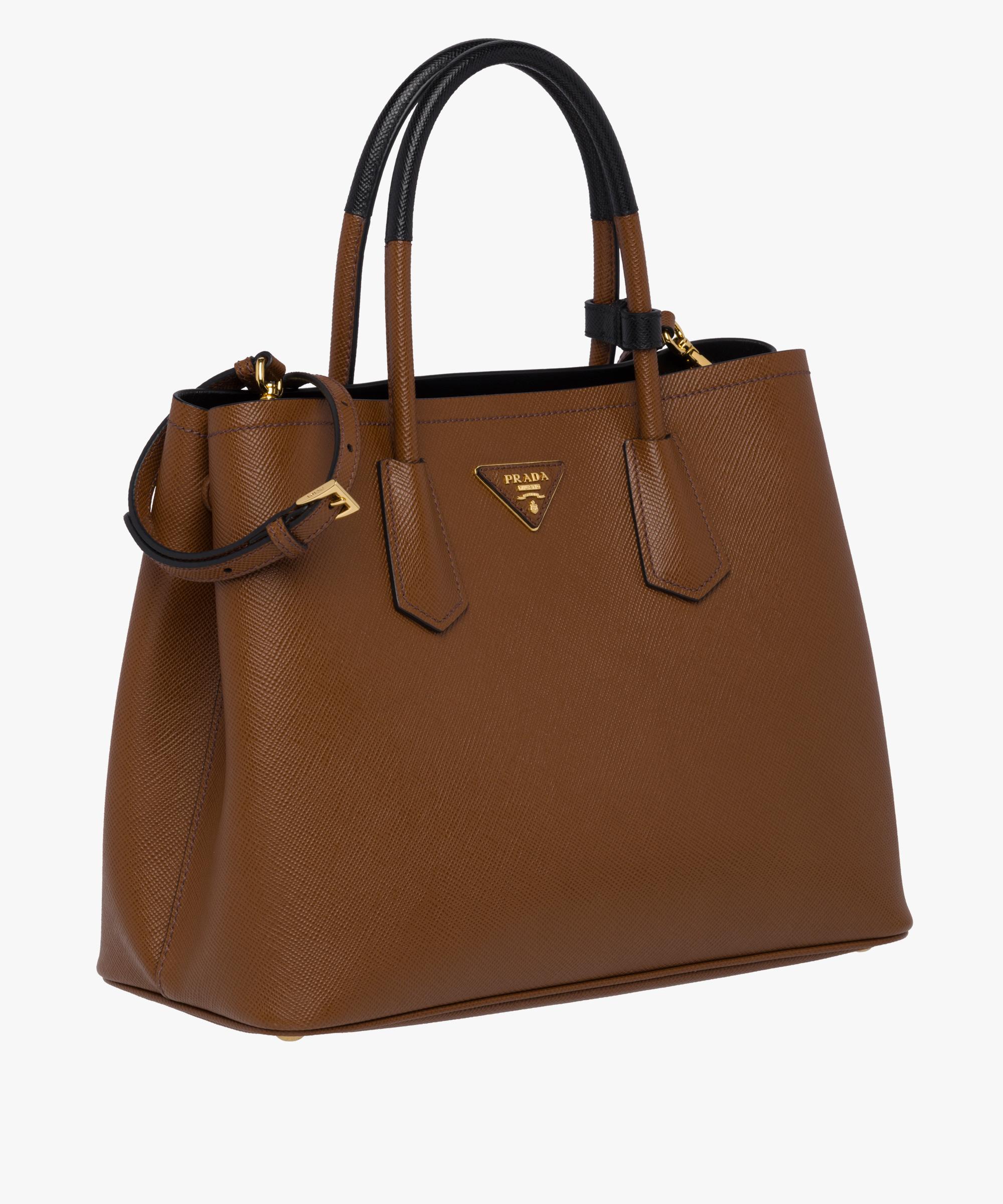 961a4a569ac5 ... Prada Double Medium Bag Prada PALISANDER BLACK ...