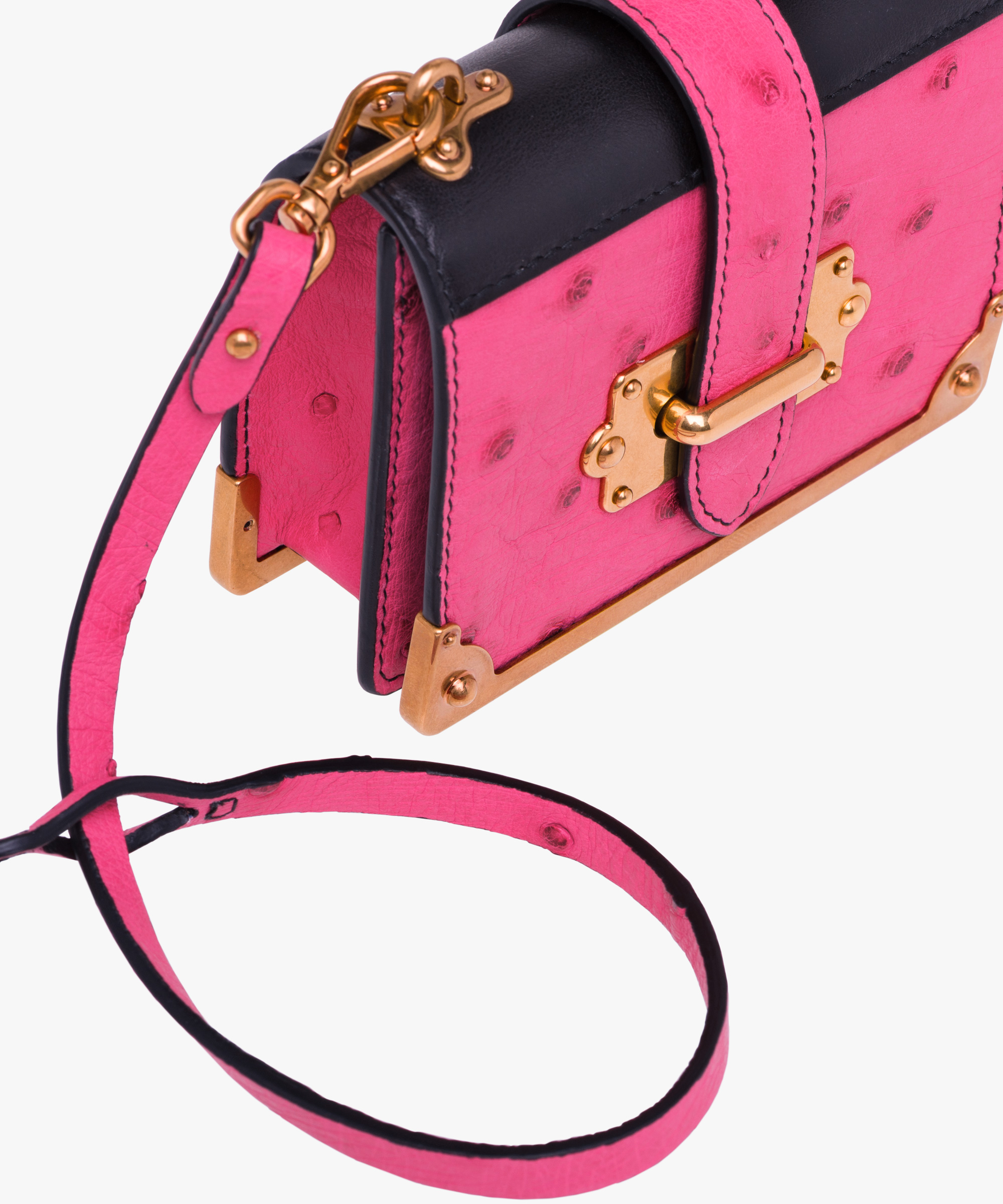 45be1dfa68e8 ... Micro Cahier Bag Prada FUCHSIA/BLACK ...