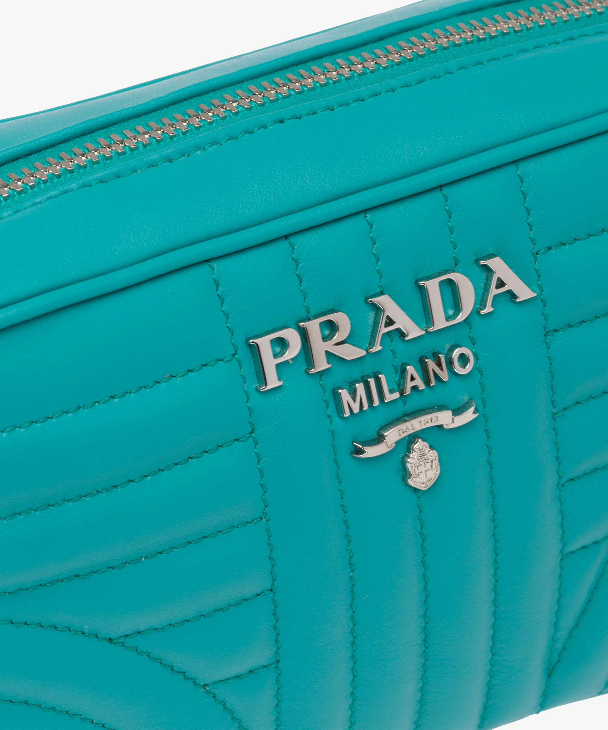 383645a27bf6 ... Prada Diagramme leather cross-body bag Prada JADE GREEN ...