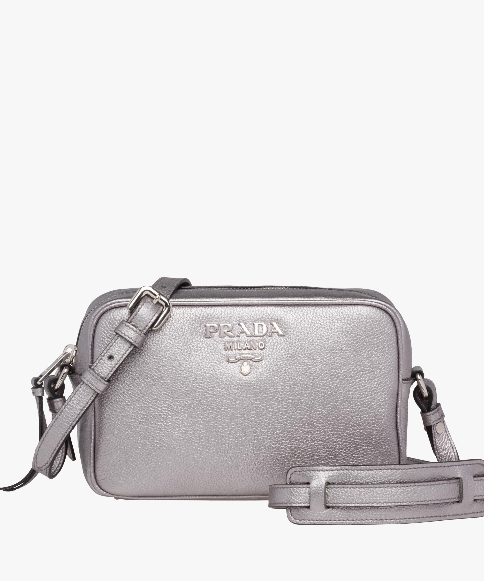 09feafe98b2c ... new style leather shoulder bag prada chrome leather shoulder bag prada  chrome 374e4 ceca5