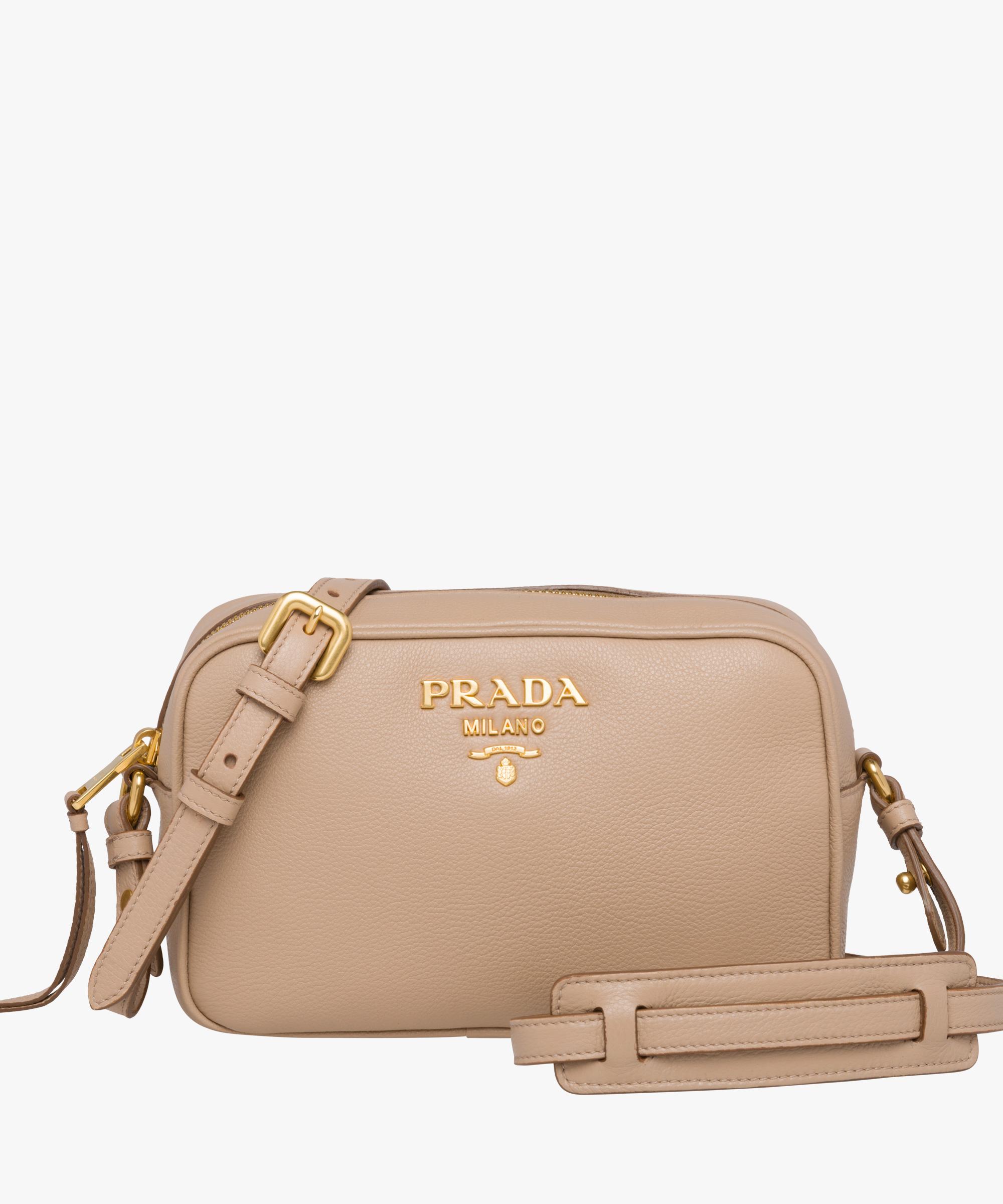 ... Leather shoulder bag Prada CAMEO BEIGE ... f0c5b6c0031d4