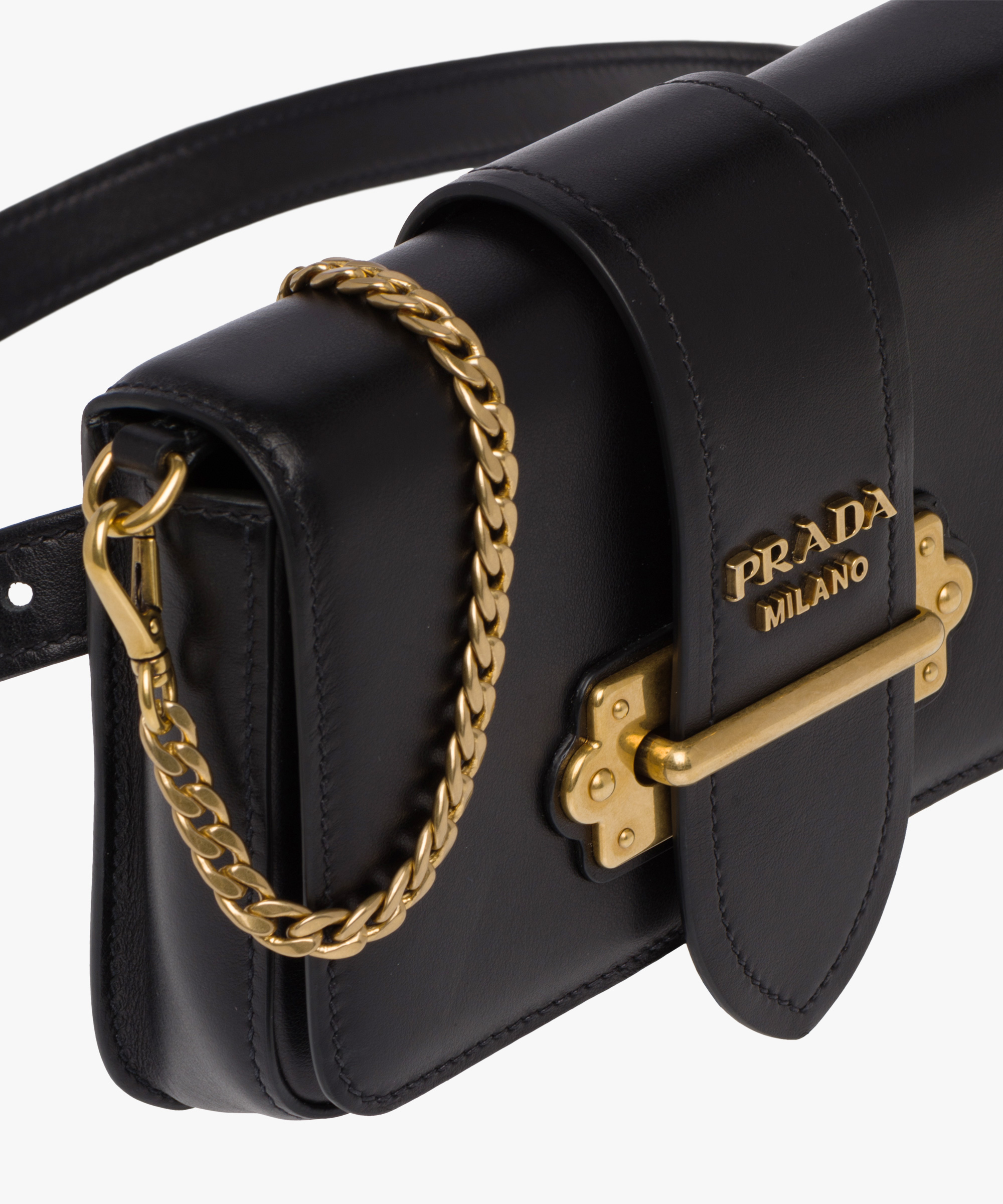 ... Prada Cahier Belt Bag Prada BLACK ... a4941abf39