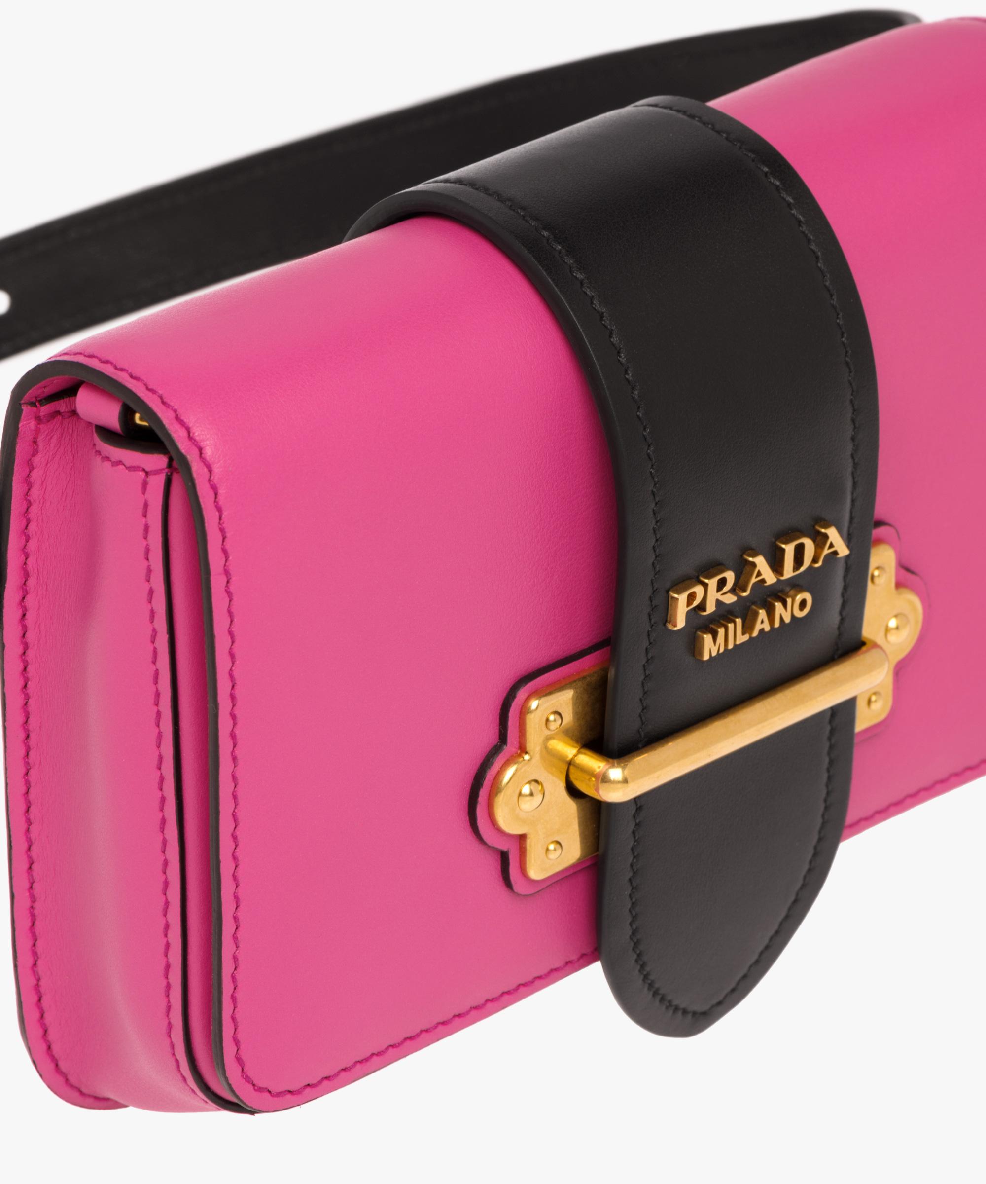 ... Prada Cahier Belt Bag Prada FUCHSIA BLACK ... 34dd62d596