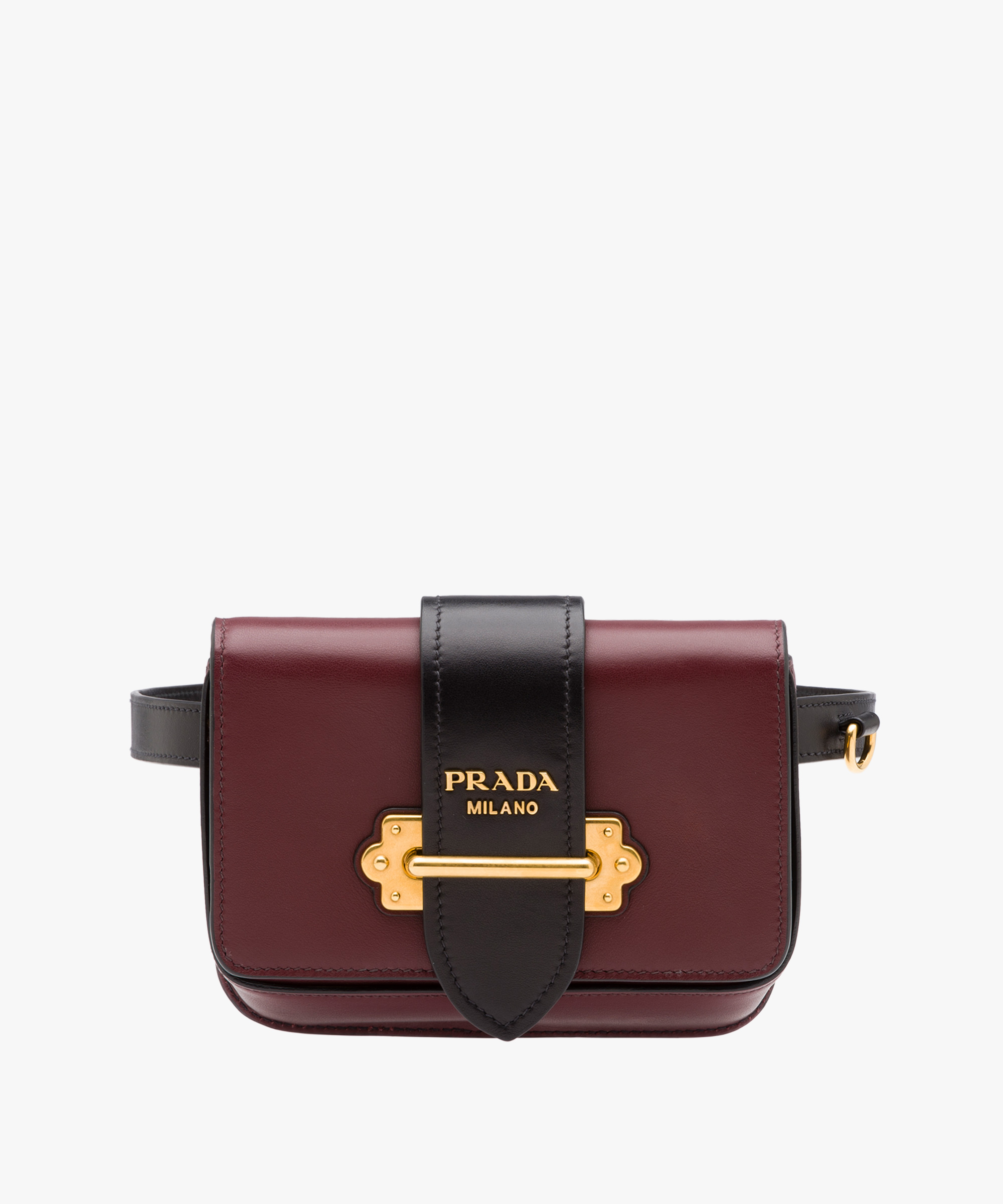 8888d1bbb41389 ... Prada Cahier Belt Bag Prada GARNET RED/BLACK ...