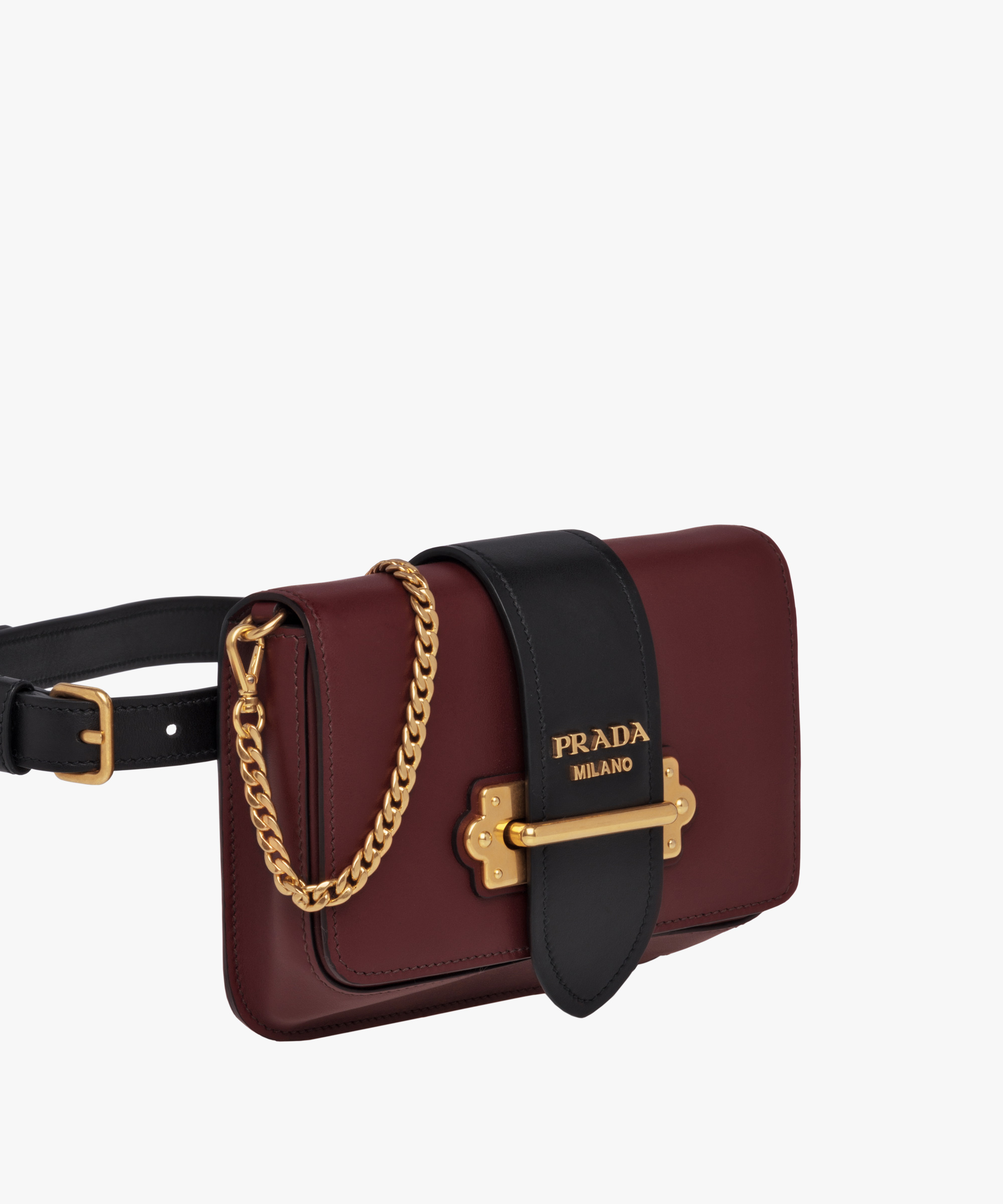 5d59994d4c01 ... Prada Cahier Belt Bag Prada GARNET RED/BLACK ...