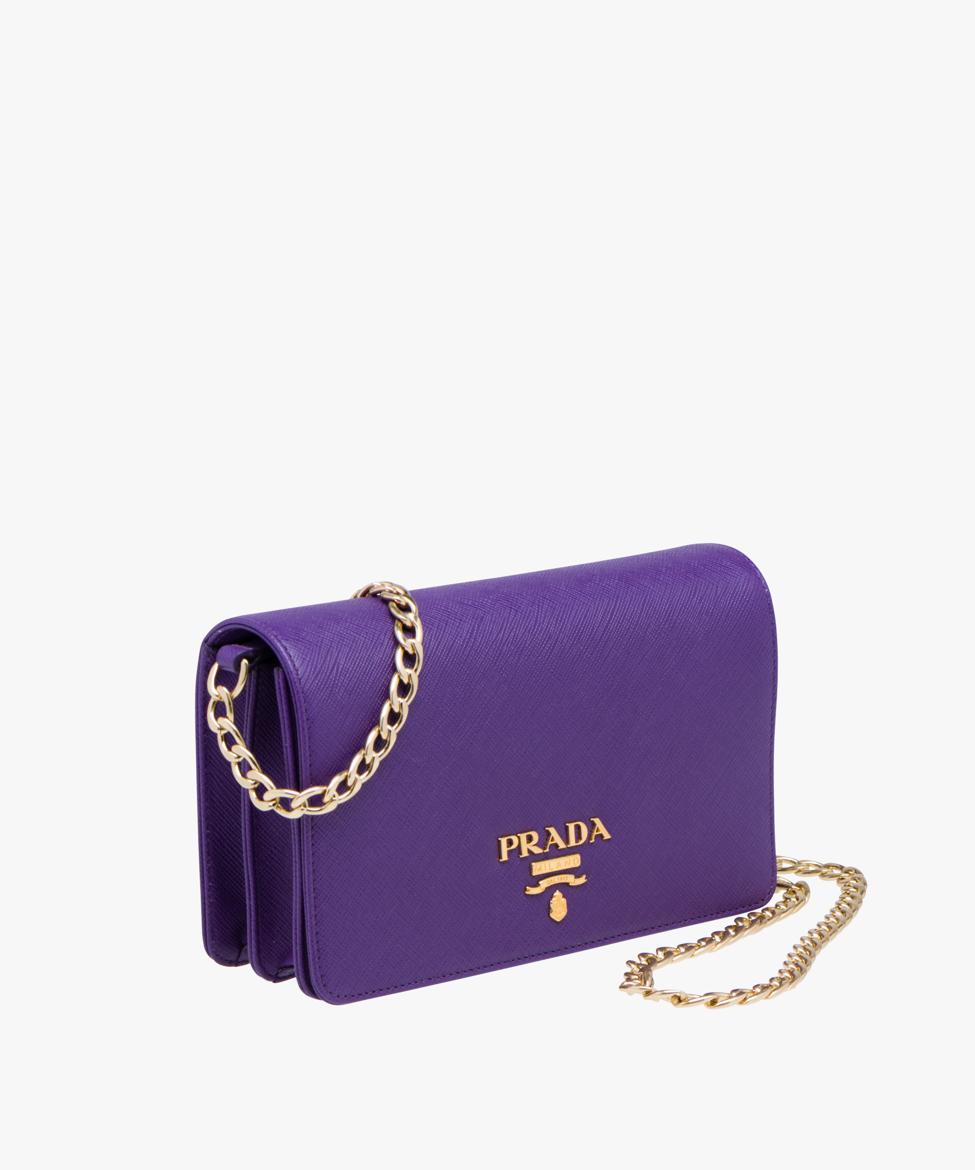 e0cc076a96 ... Leather Shoulder Bag Prada VIOLET ...