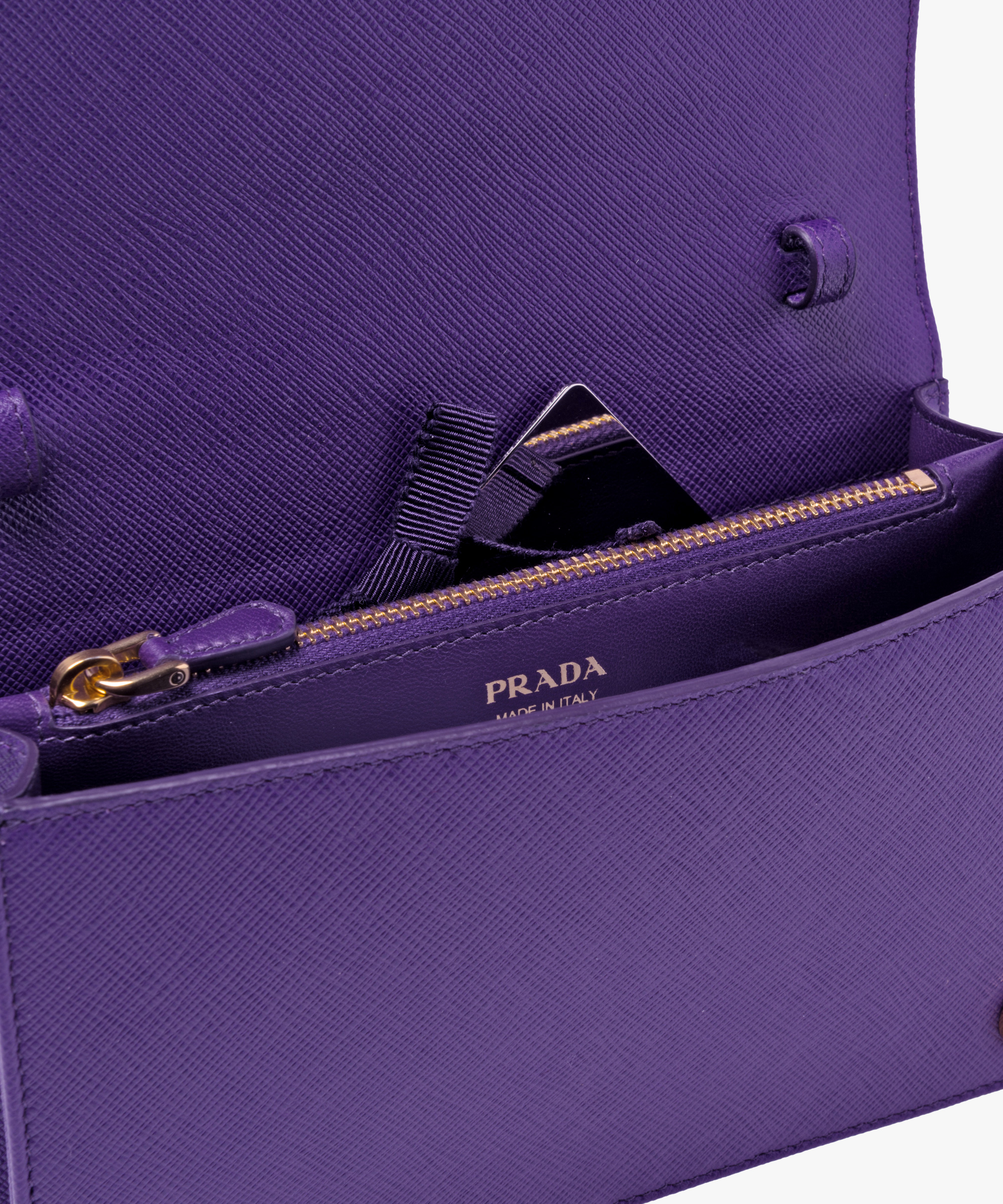 2e23be0cc3 Leather Shoulder Bag Prada VIOLET ...