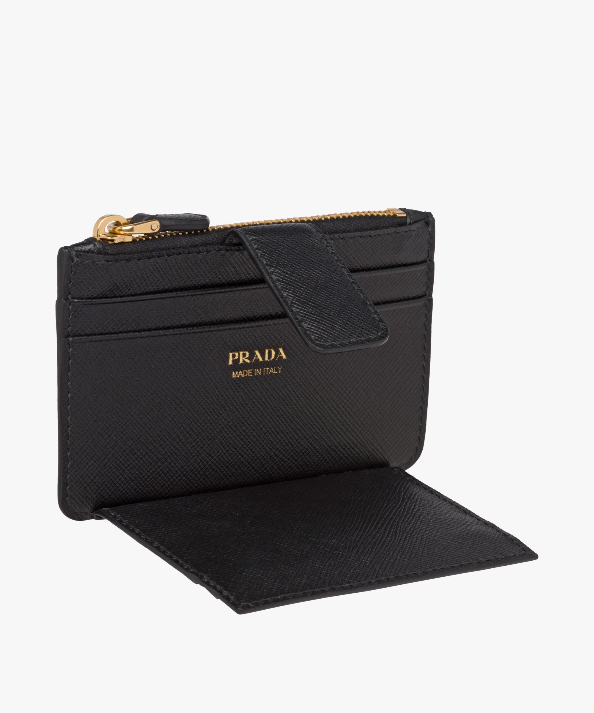 Saffiano leather credit card holder | Prada